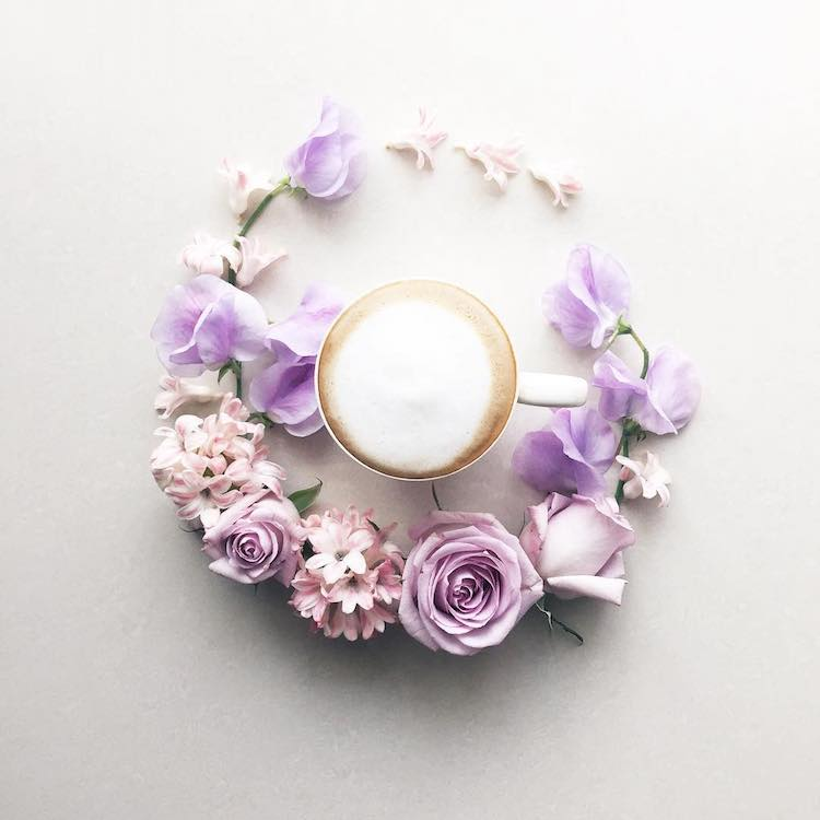 beautiful floral decoration coffee cup sawa