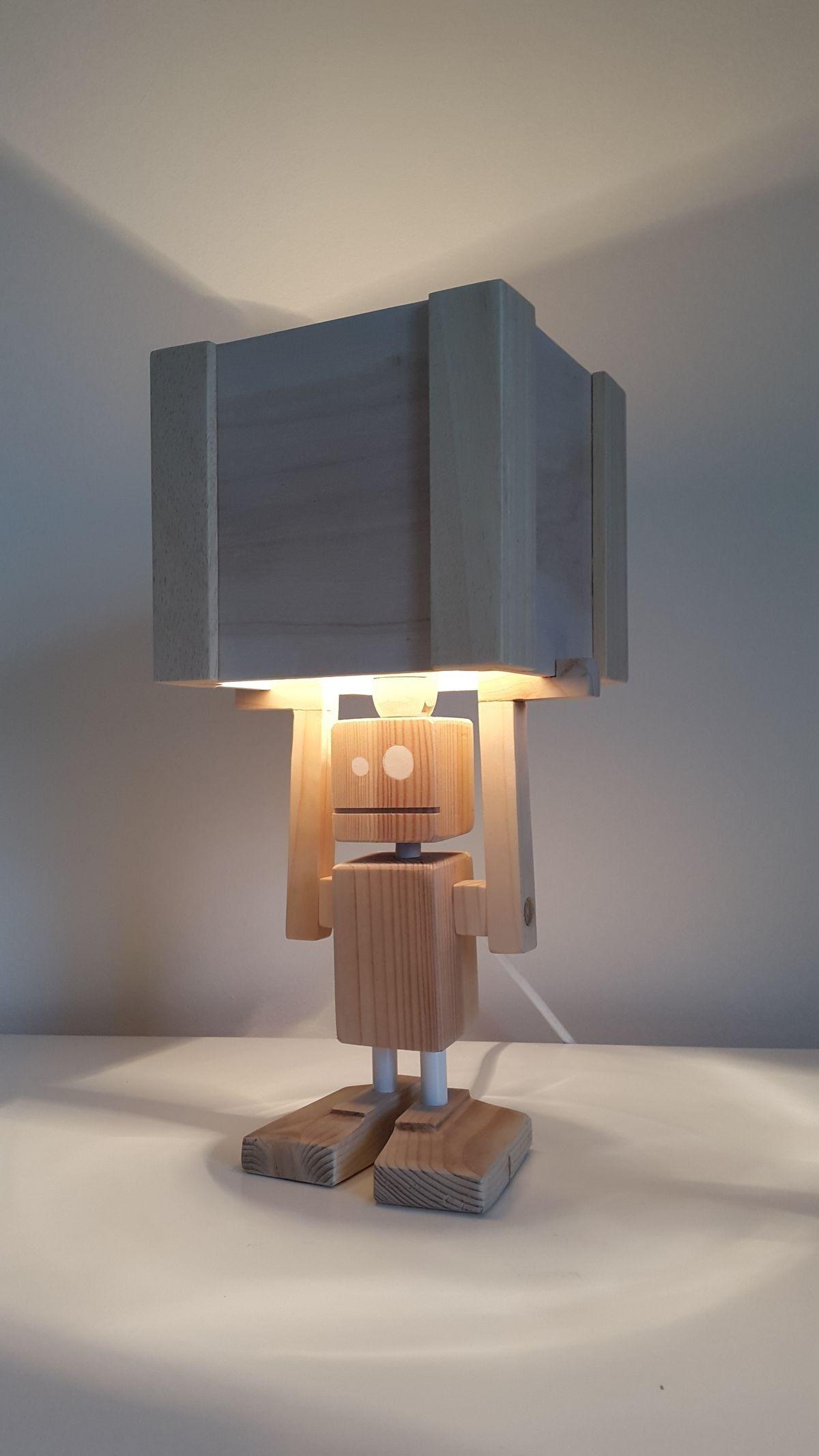 funny light robot table lamp