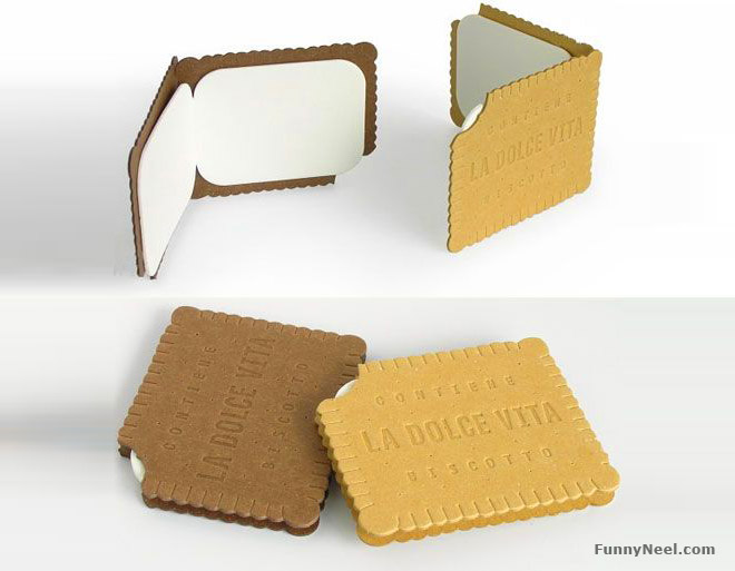 funny business card edible biscuit
