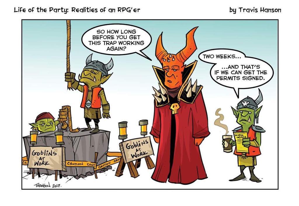 comic illustration goblin work crews travis johnson