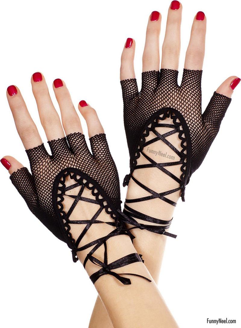 unusual glove wedding