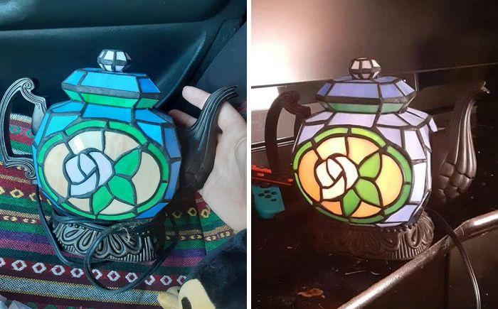 beautiful jar lamp design photo