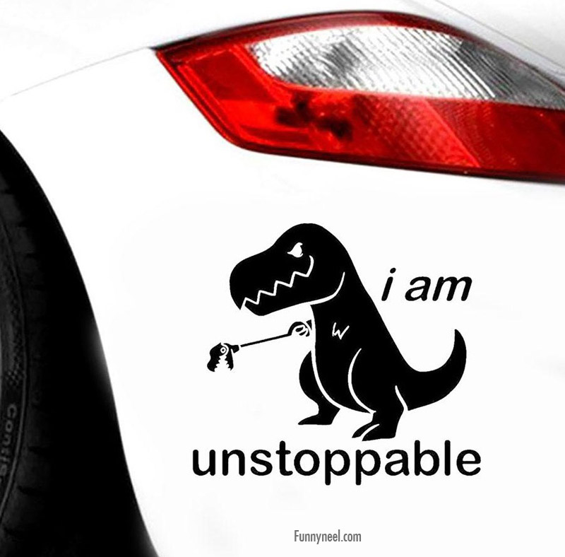 funny stickers dino unstoppable