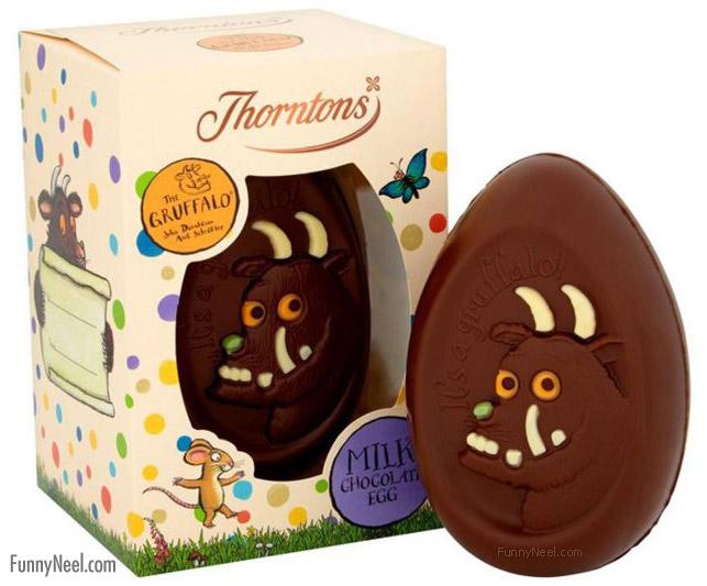 funny chcocolate egg face