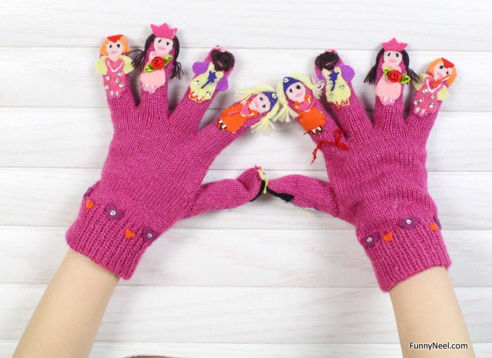 funny gloves winter season