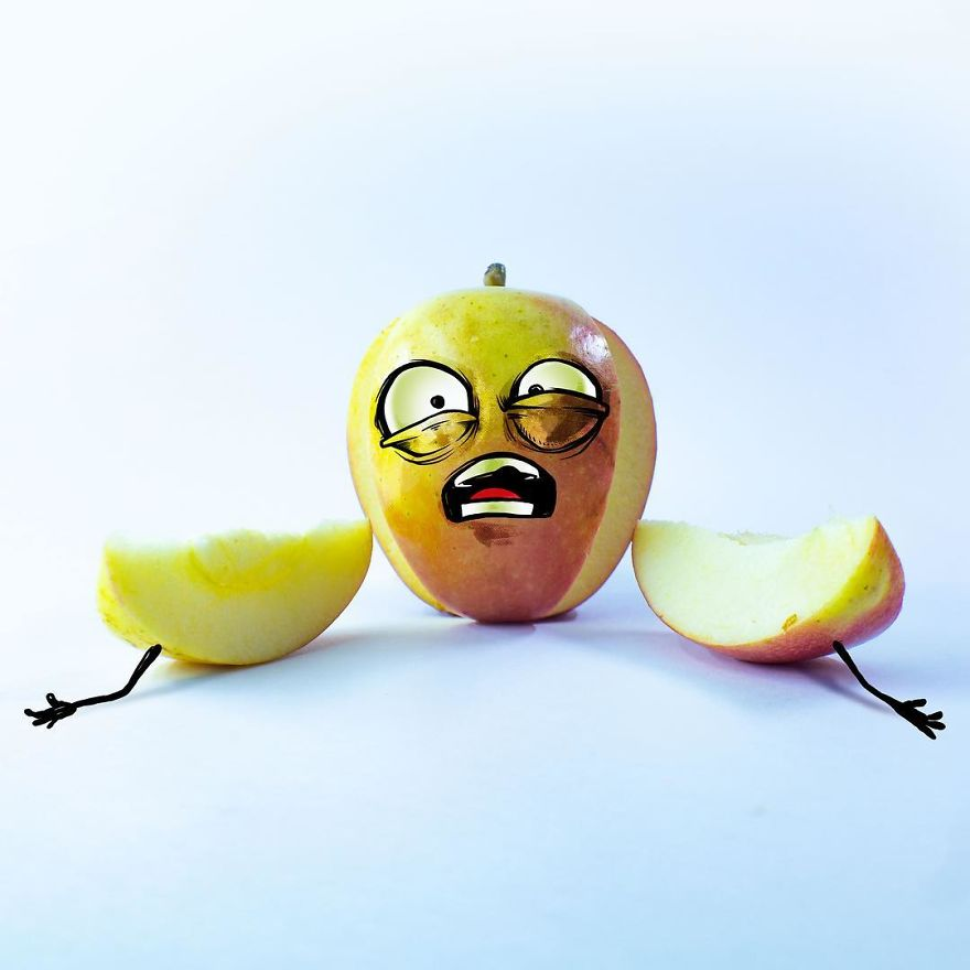 funny illustration fruit image albreto arni
