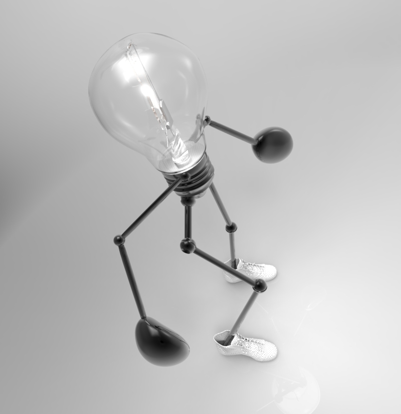 funny light design bulb