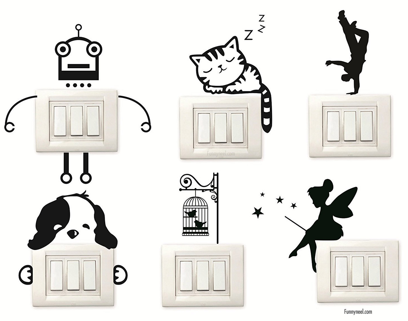 funny stickers animal switches