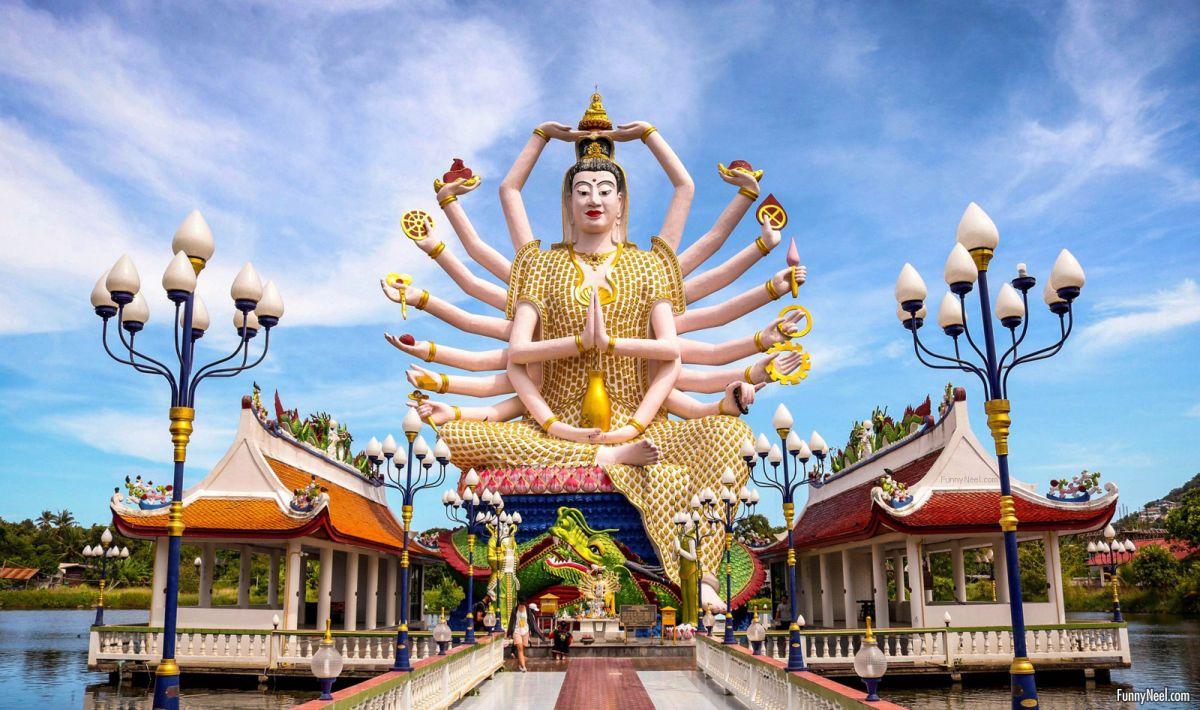 beautiful koh samui temple image thailand