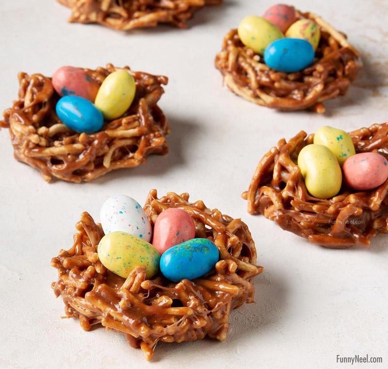 funny chocolate bird nest