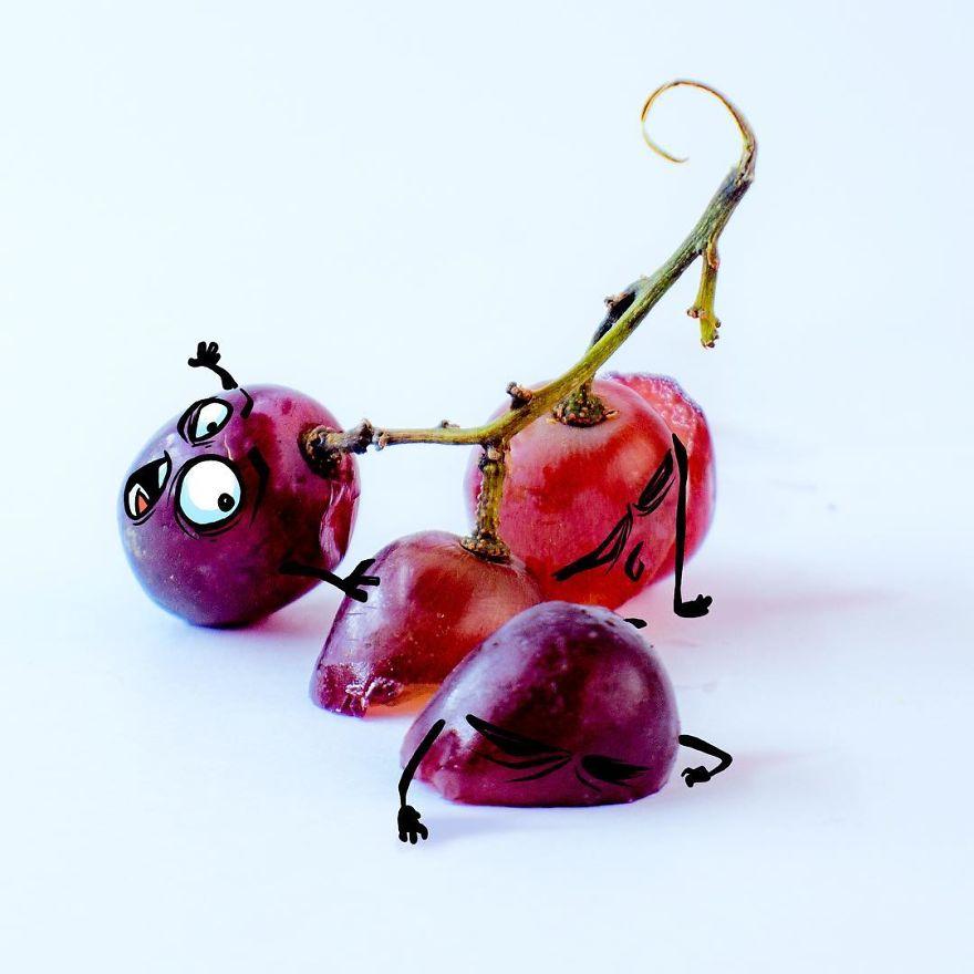 funny illustration fruit image albreto arni