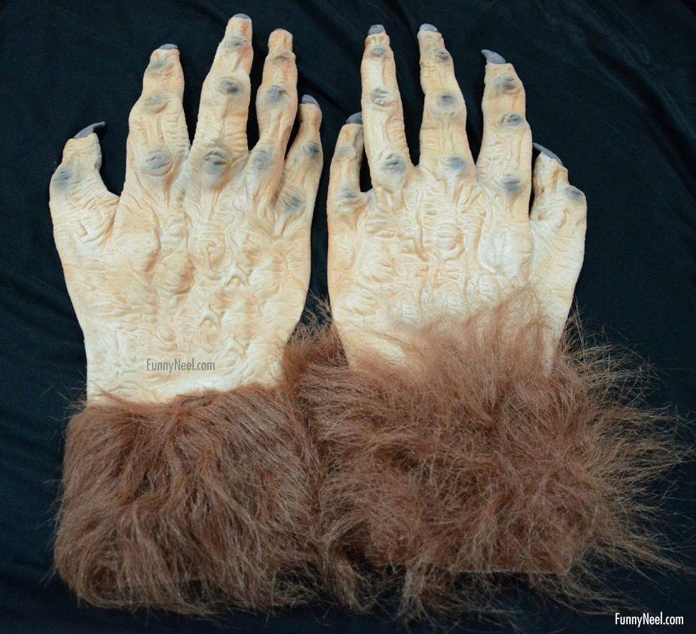 weird glove image halloween