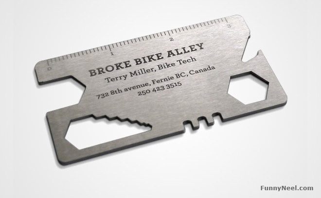 funny business card repair service