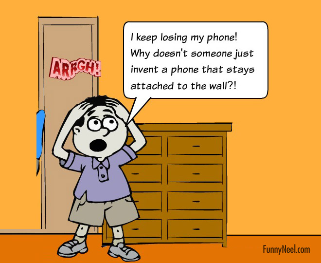 comic illustration mobile joke