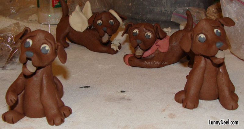 funny chocolate dogs