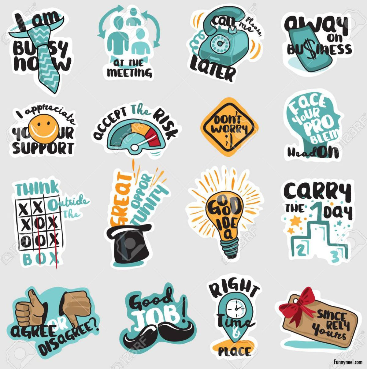 funny stickers business