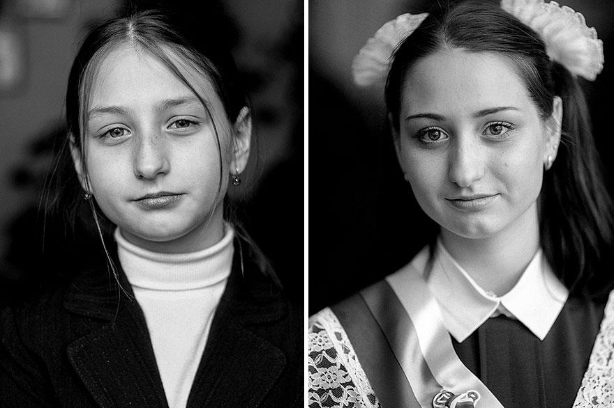 monochrome portrait photography kids after nikita khnyunin