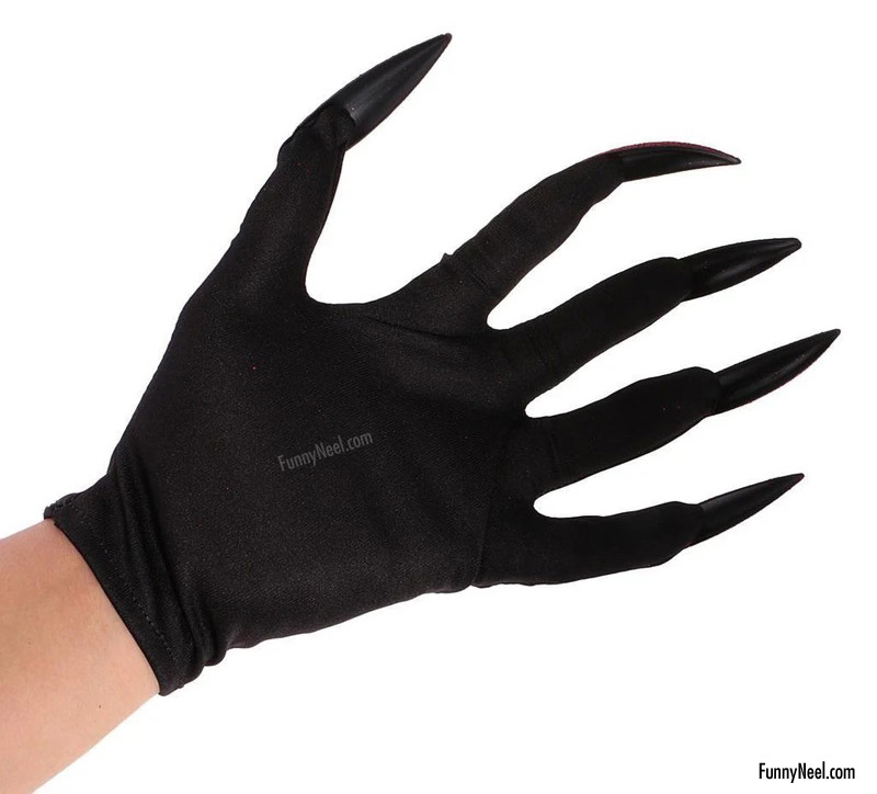 weird glove women nails