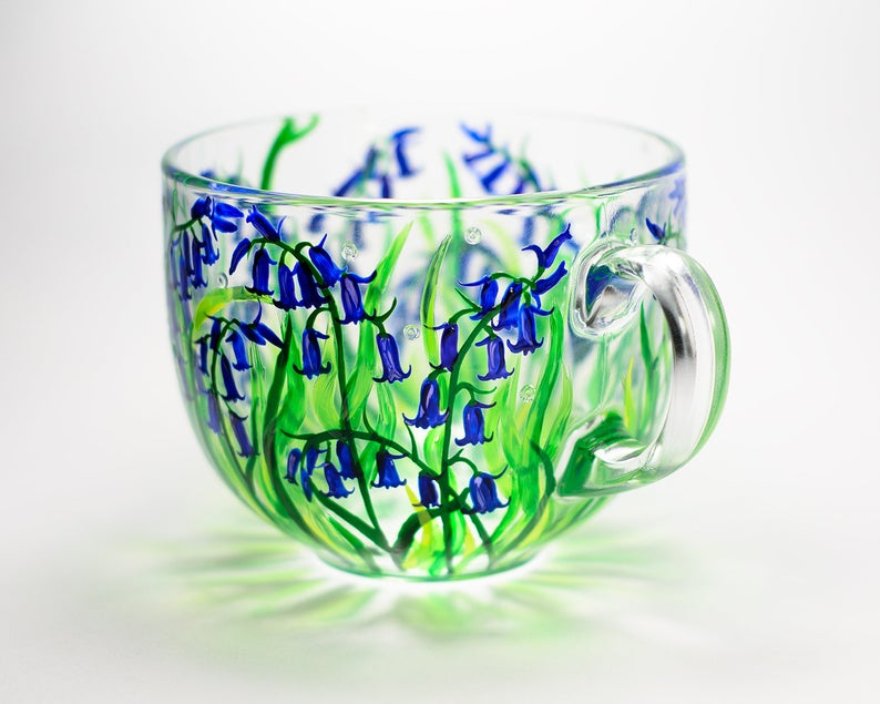beautiful hand painted coffee mug vitraaze