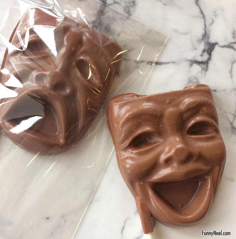 funny chocolate masks