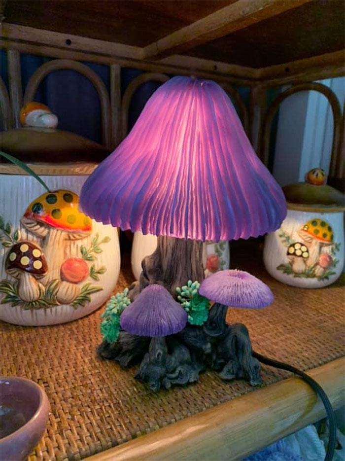 beautiful mushroom lamp design photo