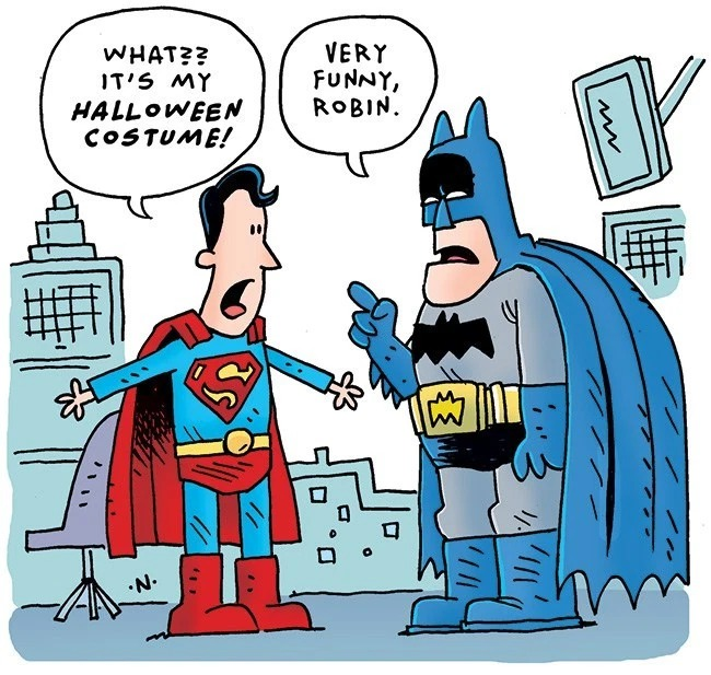 comic illustration batman superman comic joke