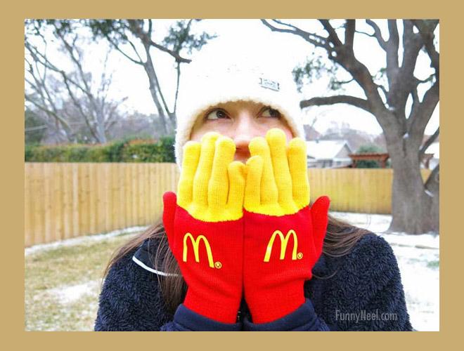 crazy gloves image winter season