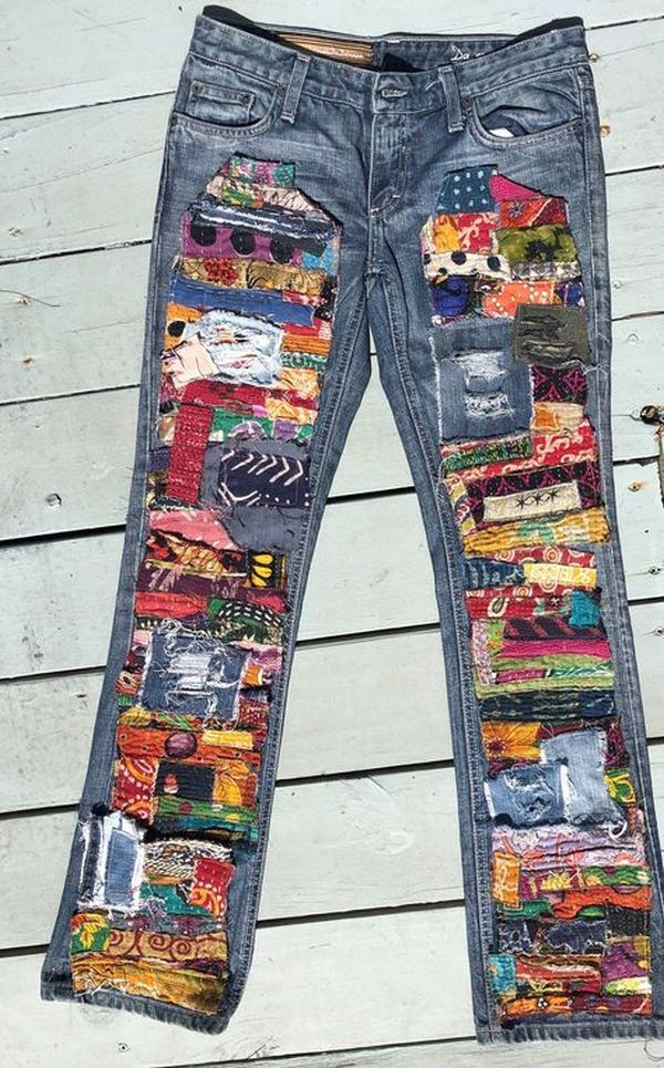 funny pant patch work design