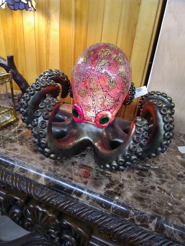 beautiful octopus lamp design photo