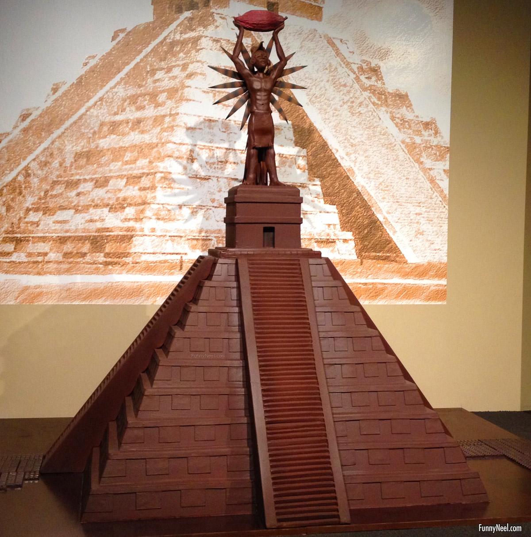 funny chocolate pyramid