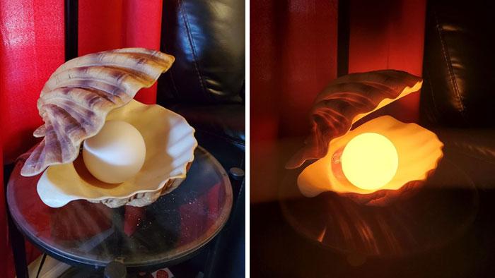 beautiful oyster lamp design photo