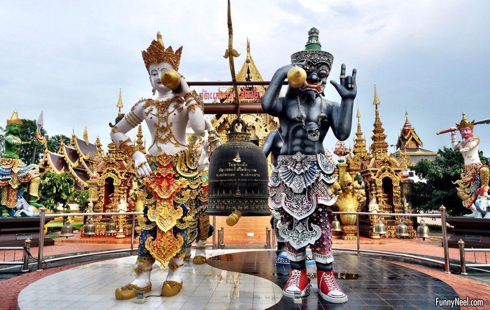 beautiful wat sang kaew temple image thailand