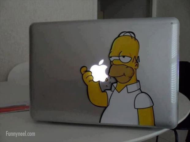 funny stickers simpson laptop apple