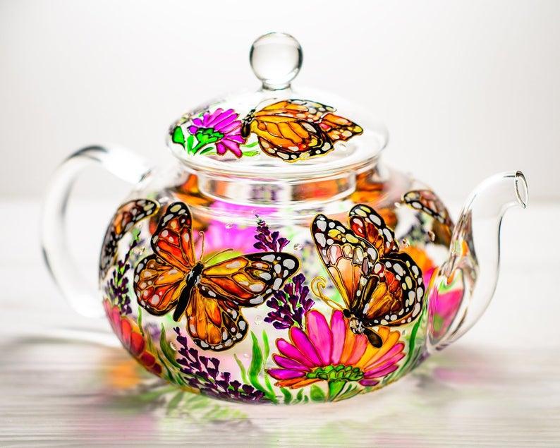 beautiful hand painted jar vitraaze