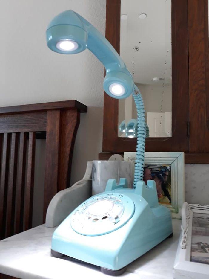 beautiful telephone lamp design photo