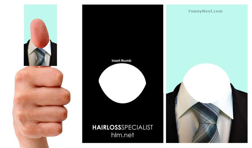 funny business card hair loss