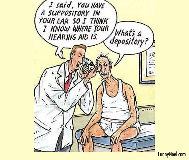 comic illustration doctor patient joke