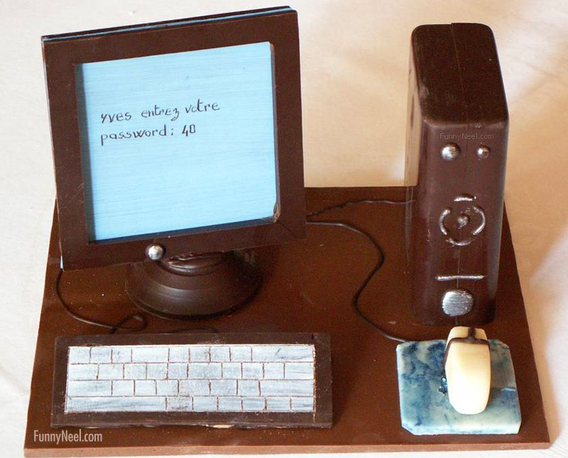 funny chocolate computer keyboard