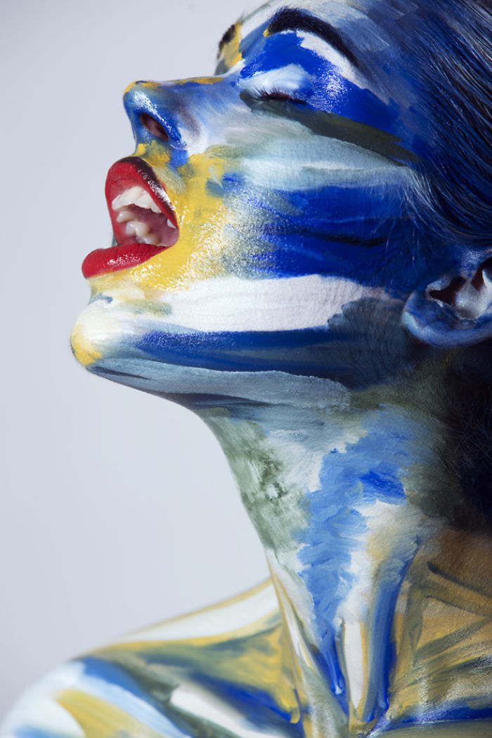 beautiful face painting anna krzak
