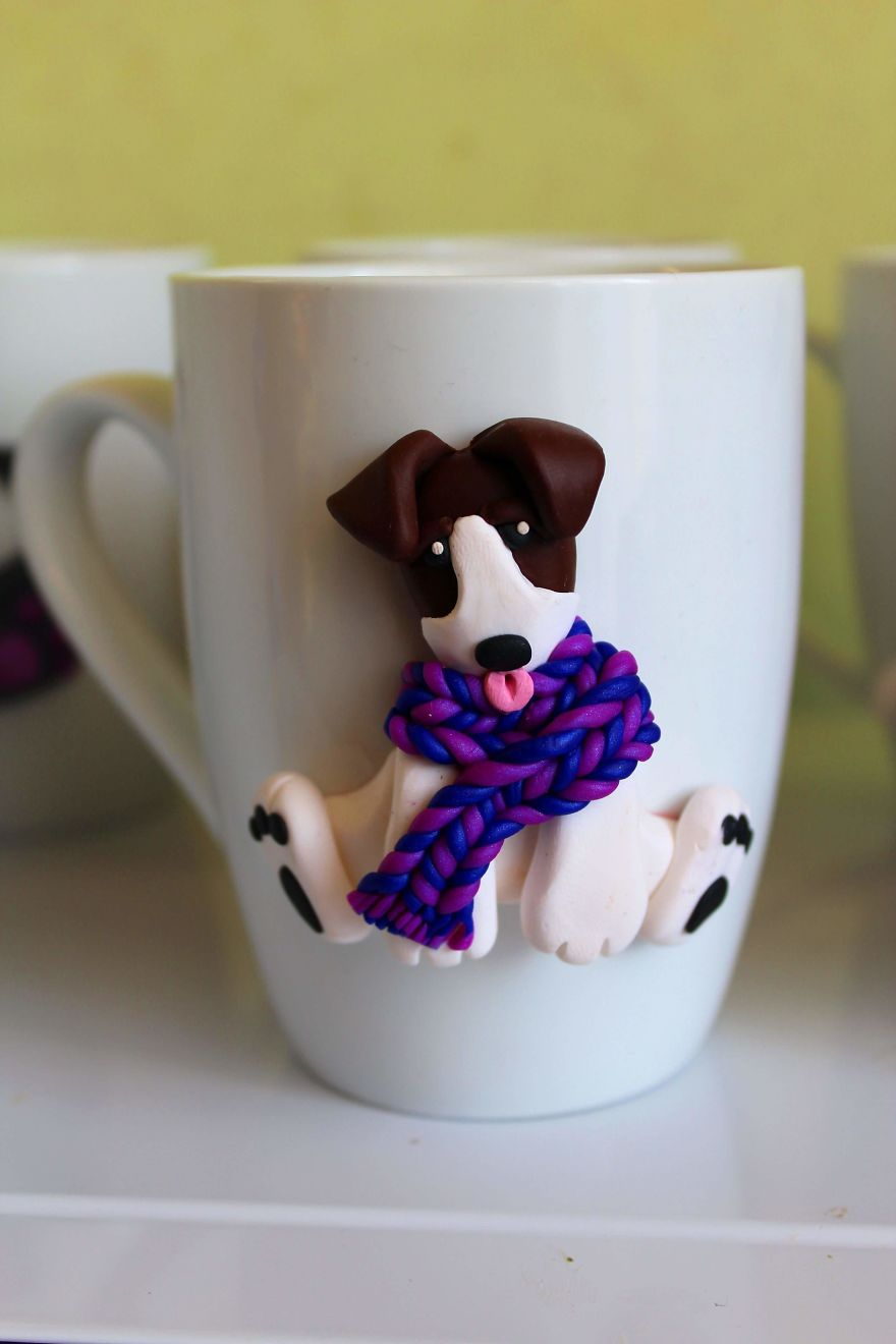Beautiful Polymer Clay Decorated Coffee Mugs To Brighten Your Day