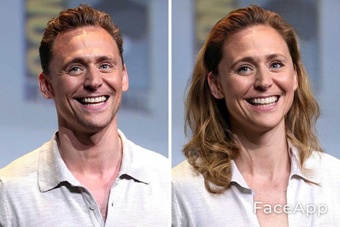 funny gender swap celebrity tom hiddleston