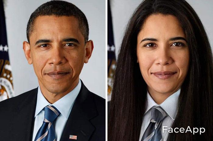 funny gender swap celebrity barack obama