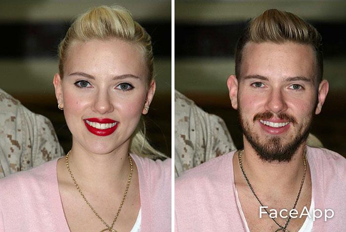 funny gender swap celebrity scarlett johansson