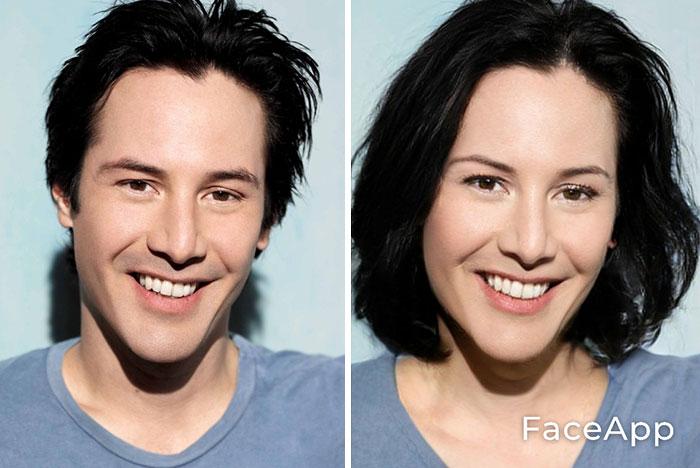 funny gender swap celebrity keanu reeves