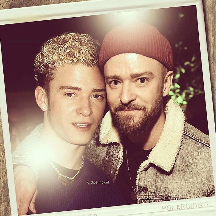 celebrity photoshopped image justin timberlake gelinck