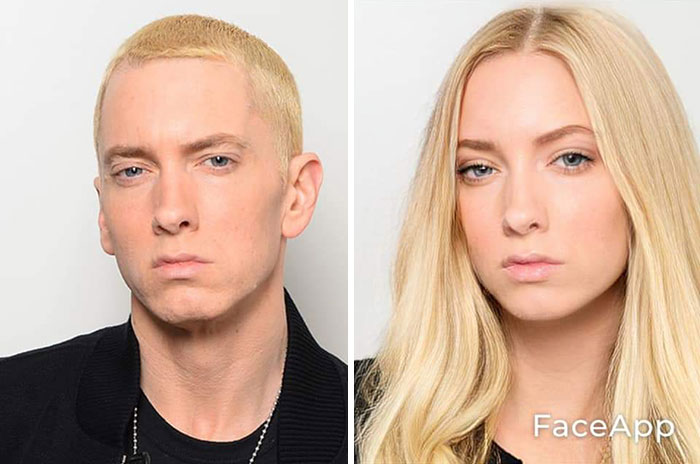 funny gender swap celebrity eminem