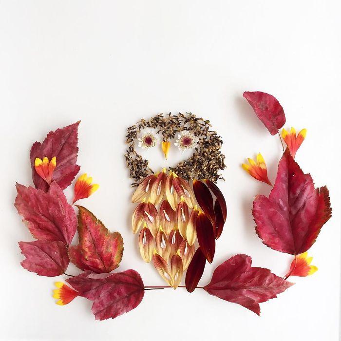 beautiful flower art idea owl collins