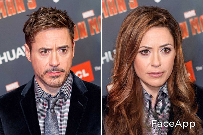funny gender swap celebrity robert downey