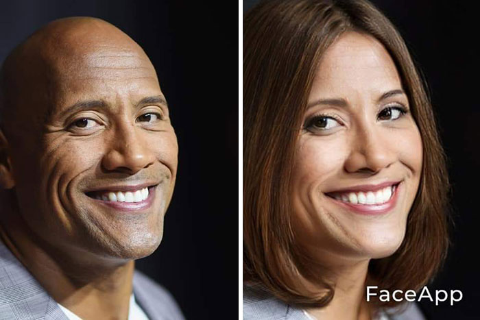 funny gender swap celebrity dwayne johnson