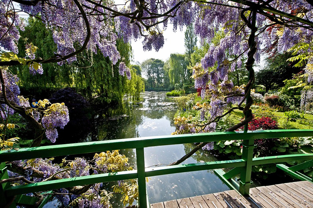 beautiful claude monets garden image france